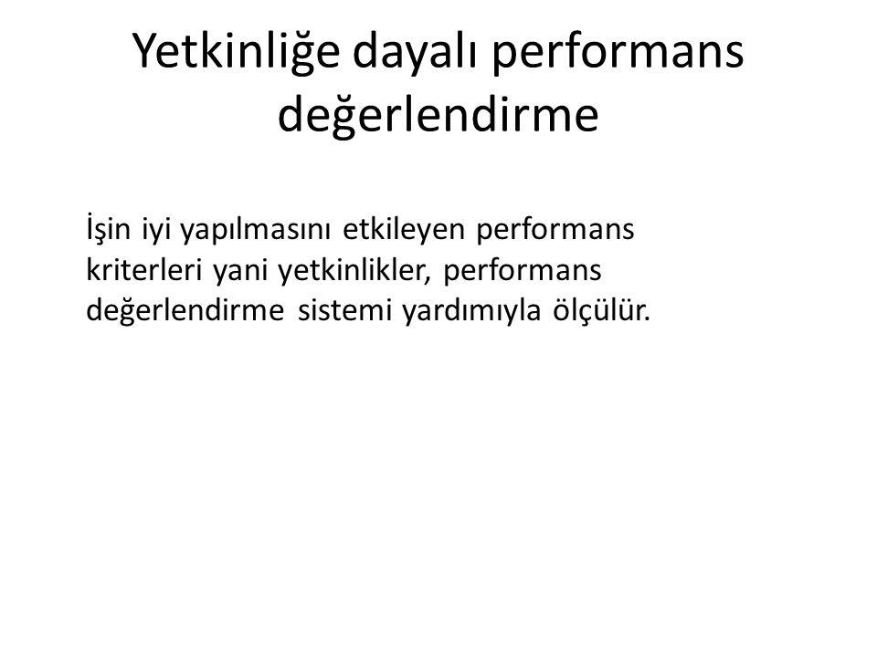 Yetkinliğe dayalı performans değerlendirme