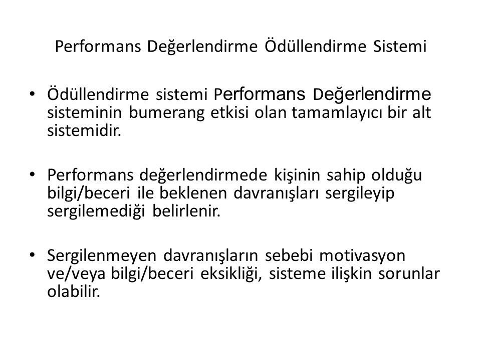 Performans Değerlendirme Ödüllendirme Sistemi