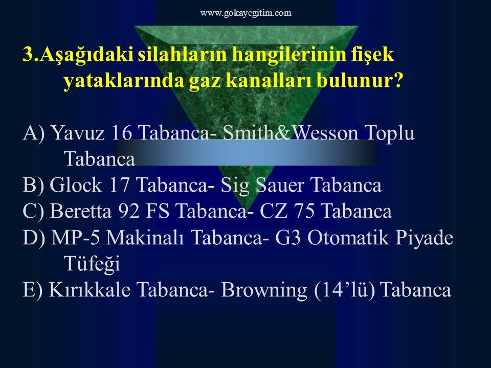 A) Yavuz 16 Tabanca- Smith&Wesson Toplu Tabanca