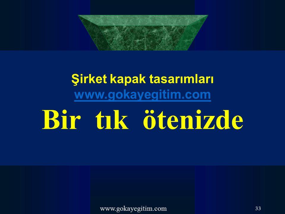 Şirket kapak tasarımları www.gokayegitim.com
