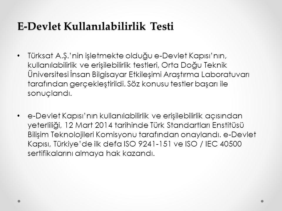 E-Devlet Kullanılabilirlik Testi