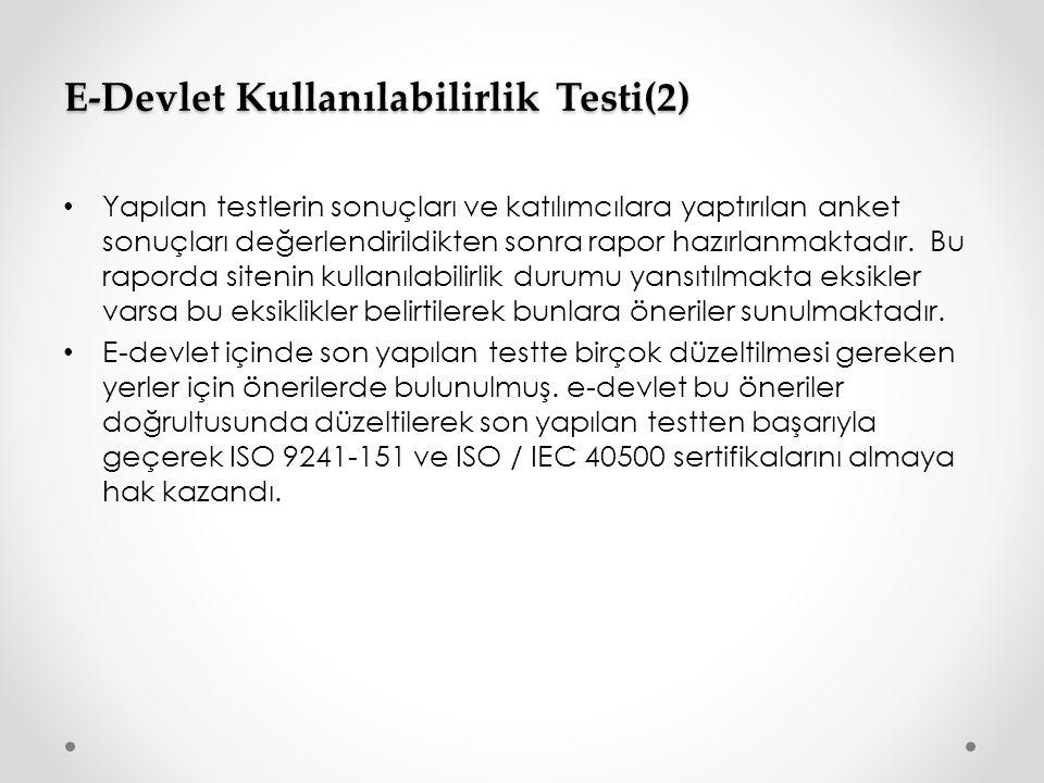 E-Devlet Kullanılabilirlik Testi(2)