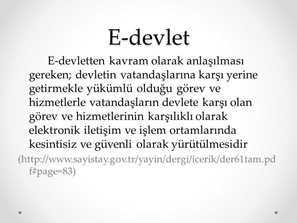 E-devlet