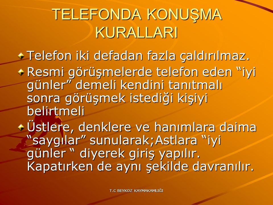 TELEFONDA KONUŞMA KURALLARI
