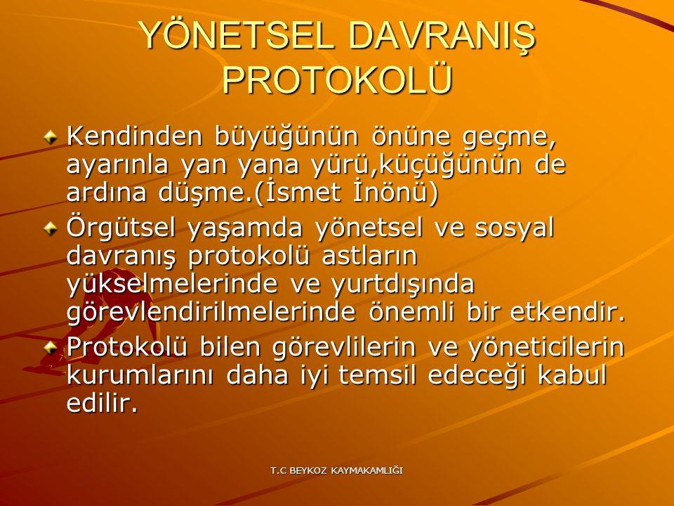 YÖNETSEL DAVRANIŞ PROTOKOLÜ