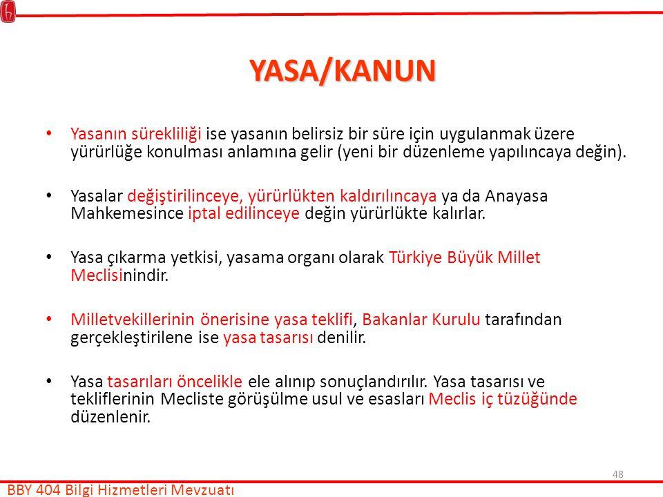 YASA/KANUN