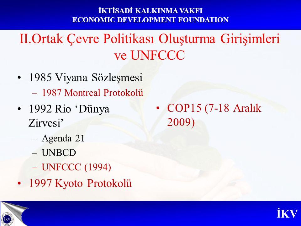 II.Ortak Çevre Politikası Oluşturma Girişimleri ve UNFCCC