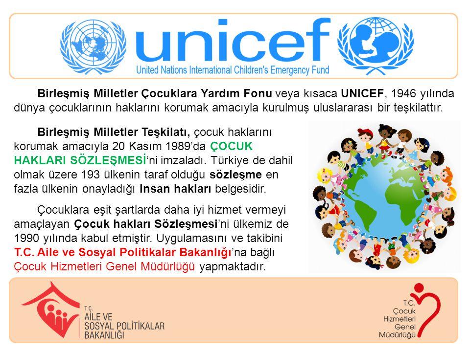Birleşmiş Milletler Çocuklara Yardım Fonu veya kısaca UNICEF, 1946 yılında dünya çocuklarının haklarını korumak amacıyla kurulmuş uluslararası bir teşkilattır.