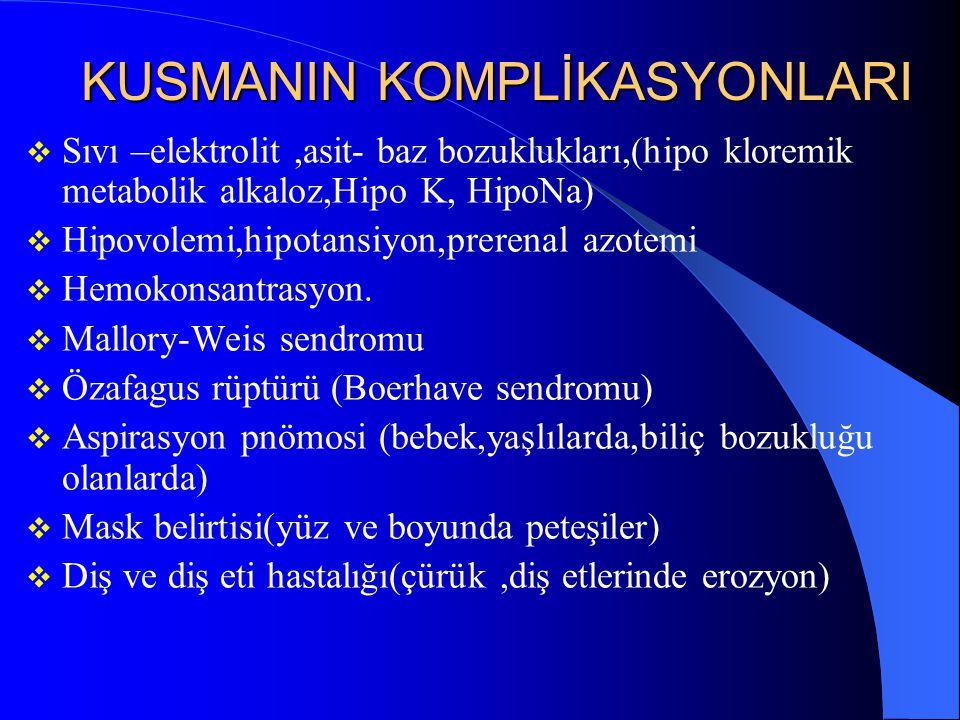 KUSMANIN KOMPLİKASYONLARI