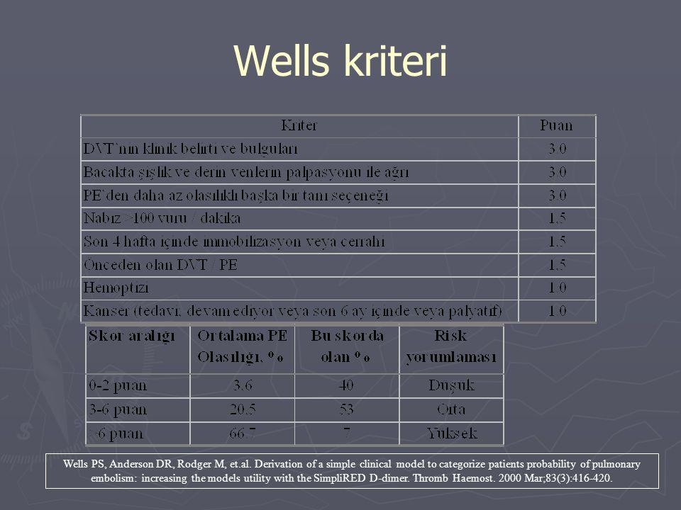 Wells kriteri