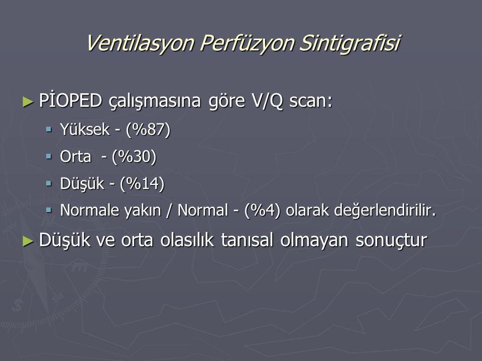 Ventilasyon Perfüzyon Sintigrafisi