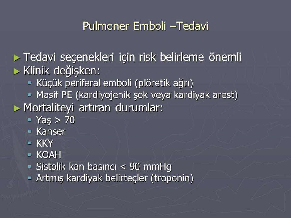Pulmoner Emboli –Tedavi
