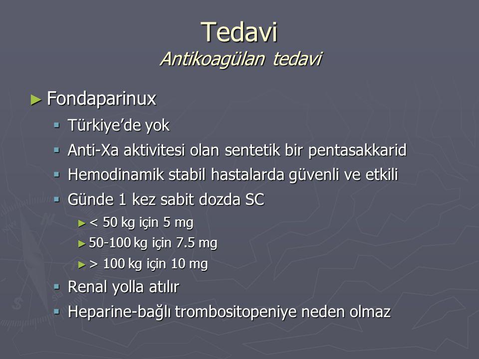 Tedavi Antikoagülan tedavi
