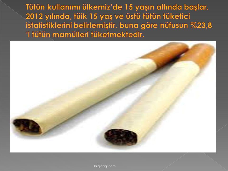 Tütün kullanımı ülkemiz'de 15 yaşın altında başlar