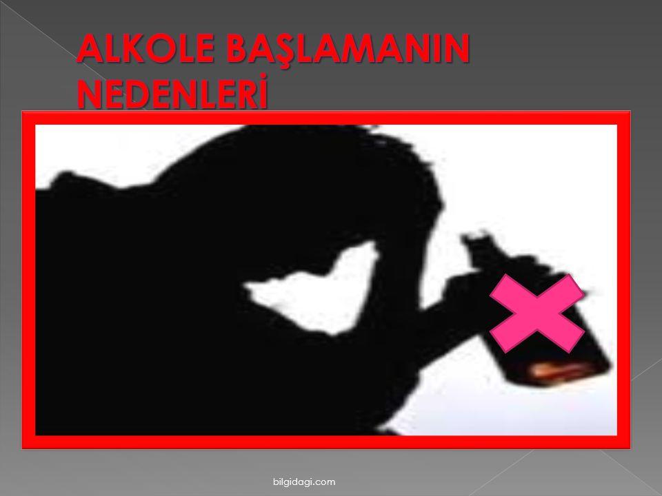 ALKOLE BAŞLAMANIN NEDENLERİ
