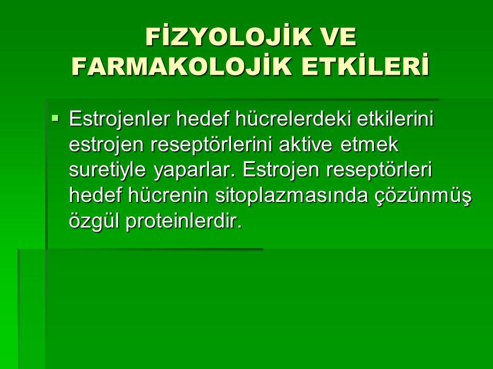 FİZYOLOJİK VE FARMAKOLOJİK ETKİLERİ