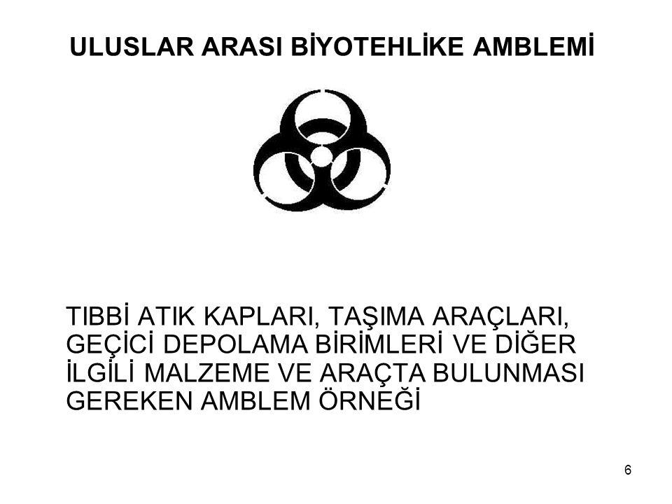 ULUSLAR ARASI BİYOTEHLİKE AMBLEMİ