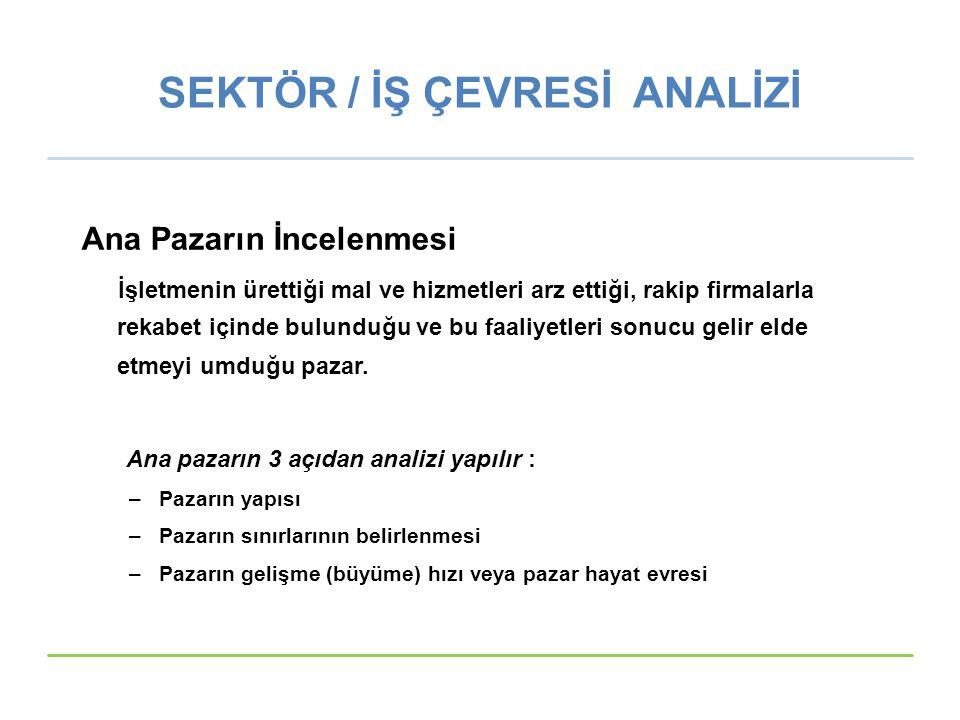 SEKTÖR / İŞ ÇEVRESİ ANALİZİ