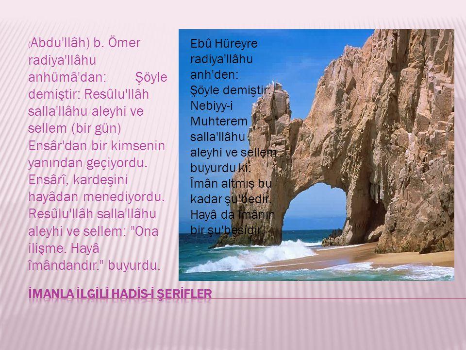 İMANLA İLGİLİ HADİS-İ ŞERİFLER