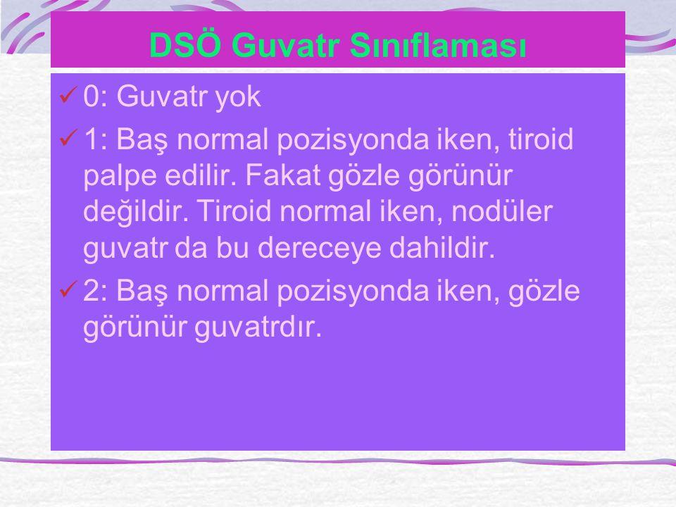 DSÖ Guvatr Sınıflaması
