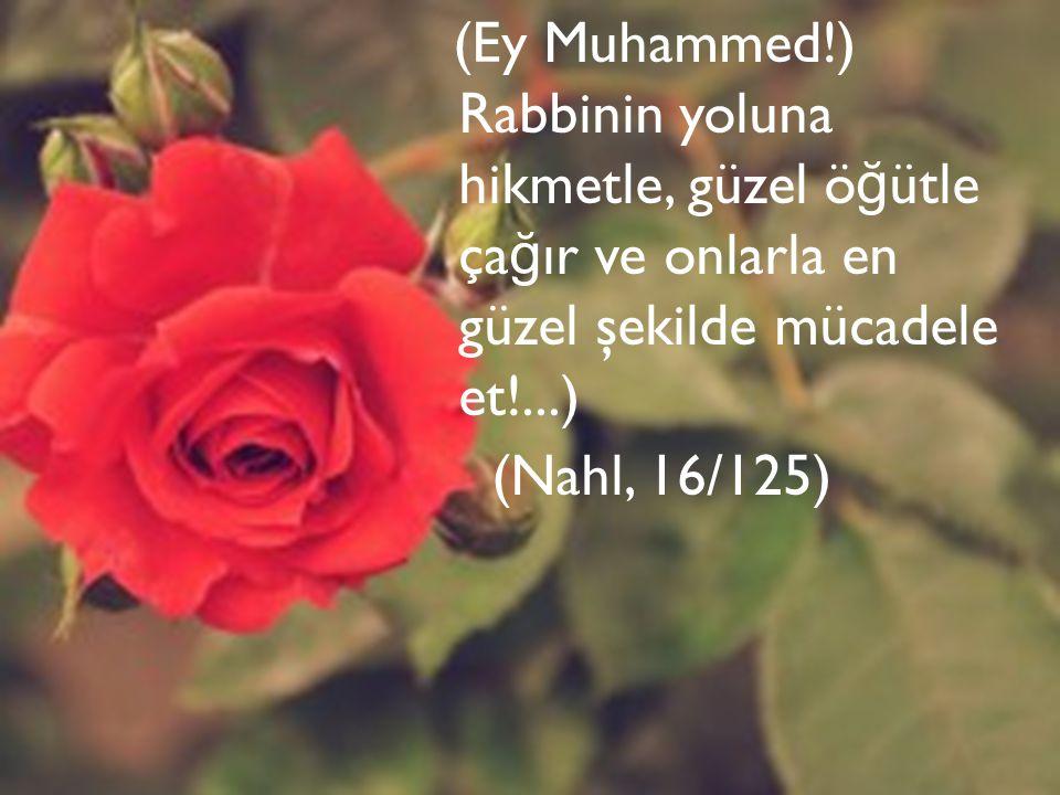 (Ey Muhammed!) Rabbinin yoluna hikmetle, güzel öğütle çağır ve onlarla en güzel şekilde mücadele et!...)