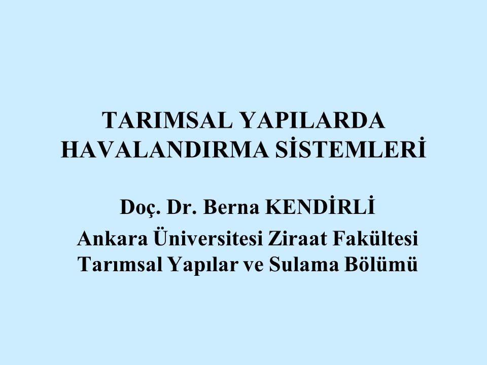 TARIMSAL YAPILARDA HAVALANDIRMA SİSTEMLERİ