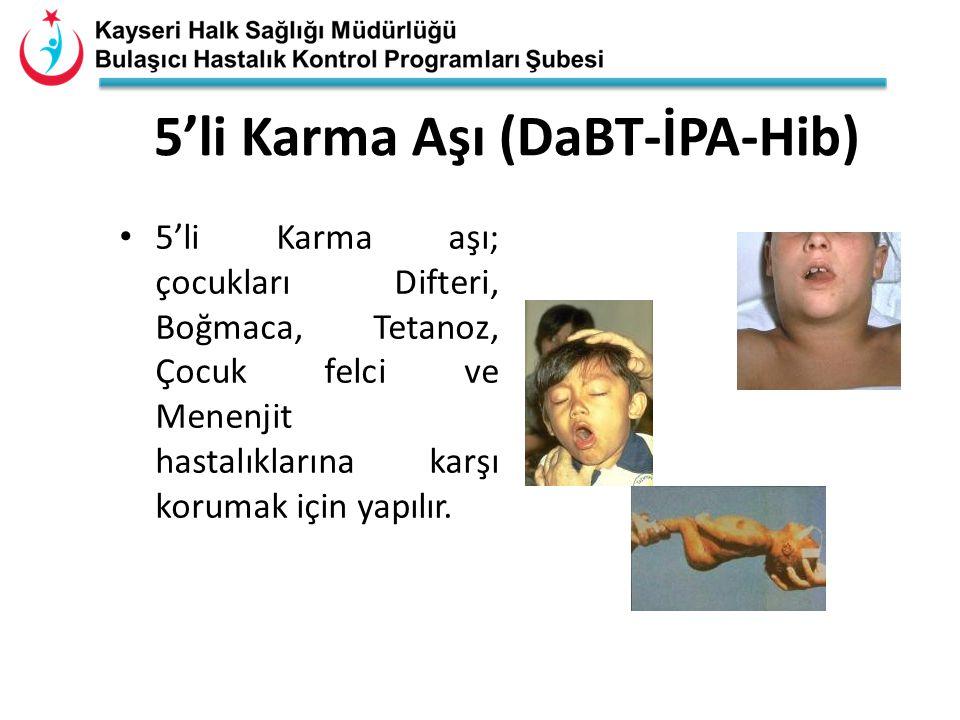 5'li Karma Aşı (DaBT-İPA-Hib)