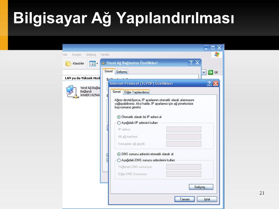 Bilgisayar Ağ Yapılandırılması