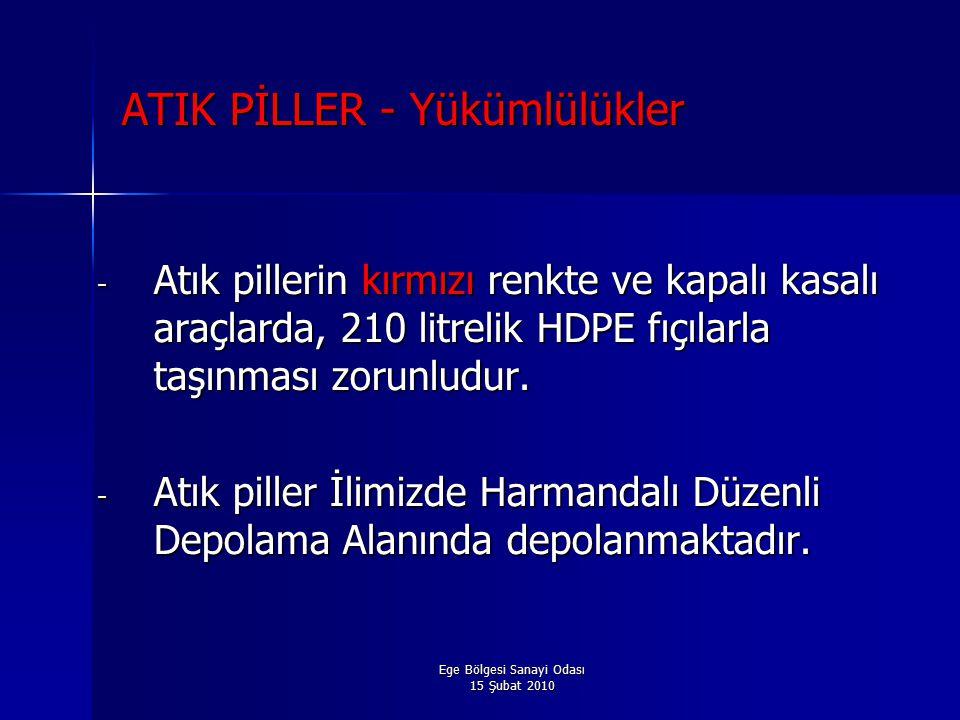 ATIK PİLLER - Yükümlülükler