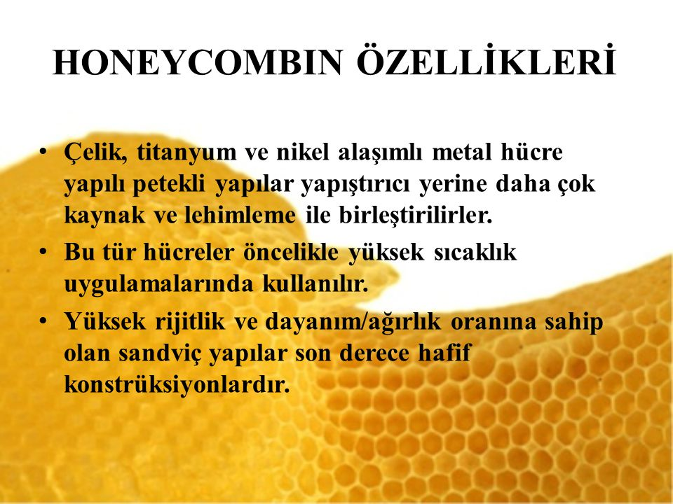 HONEYCOMBIN ÖZELLİKLERİ