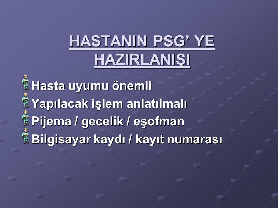 HASTANIN PSG' YE HAZIRLANIŞI