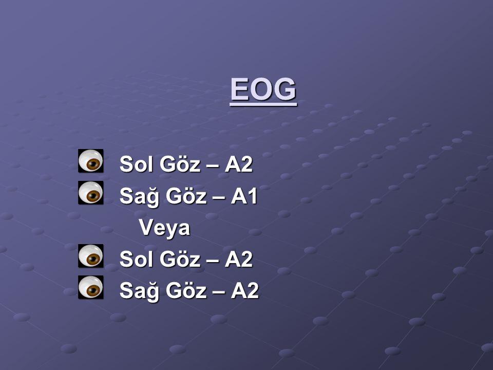 EOG Sol Göz – A2 Sağ Göz – A1 Veya Sağ Göz – A2
