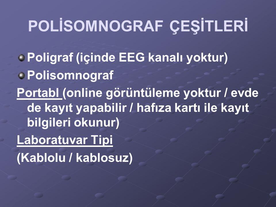 POLİSOMNOGRAF ÇEŞİTLERİ