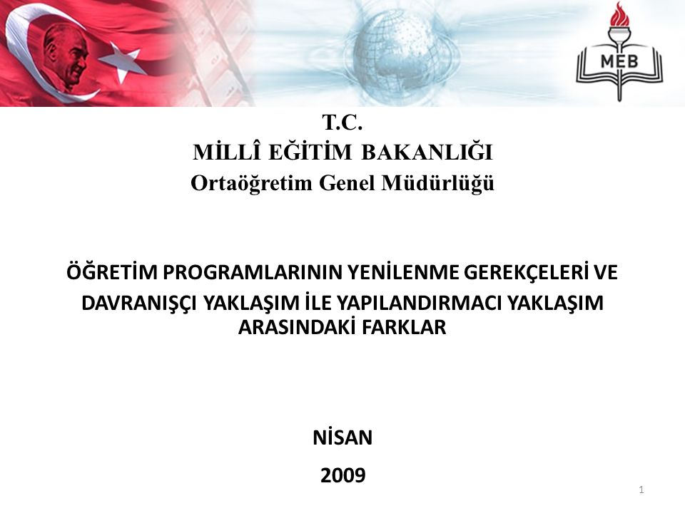 MİLLÎ EĞİTİM BAKANLIĞI Ortaöğretim Genel Müdürlüğü