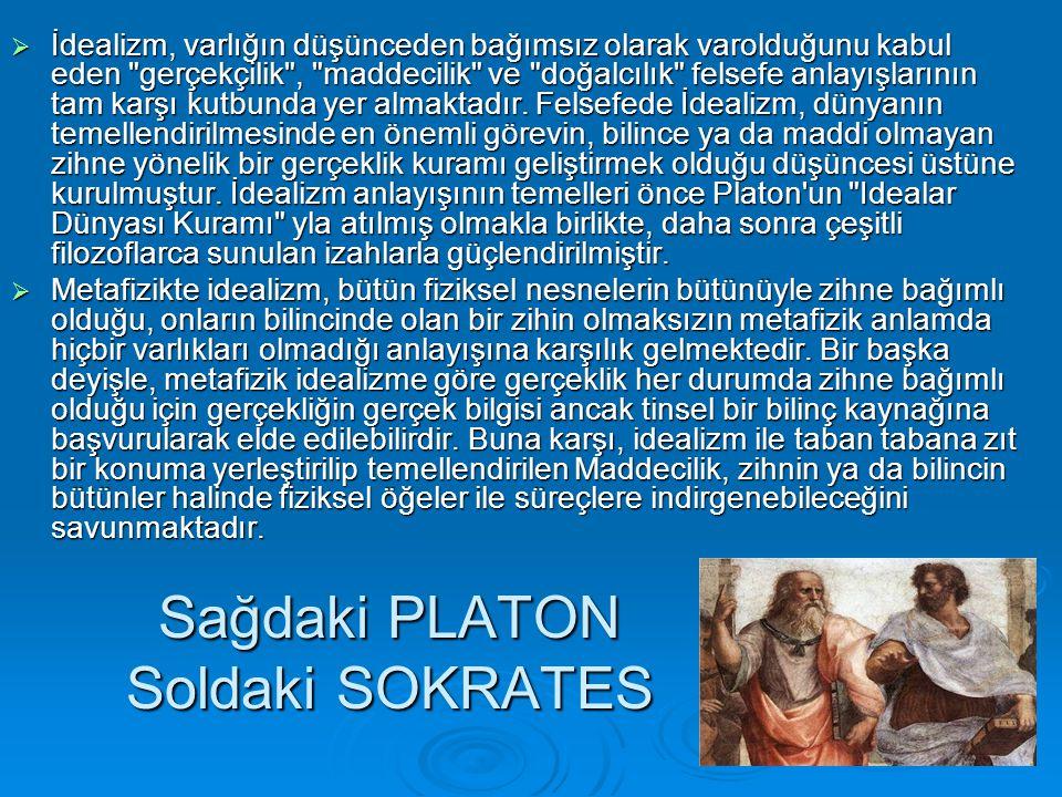 Sağdaki PLATON Soldaki SOKRATES