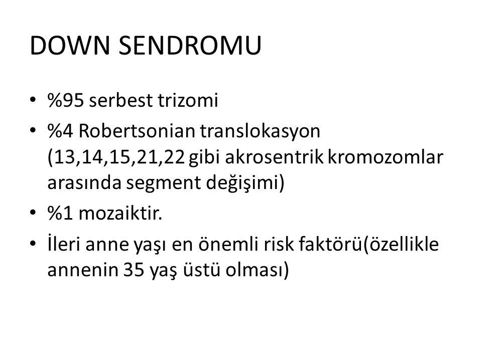DOWN SENDROMU %95 serbest trizomi