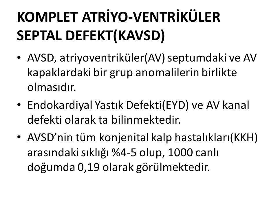KOMPLET ATRİYO-VENTRİKÜLER SEPTAL DEFEKT(KAVSD)