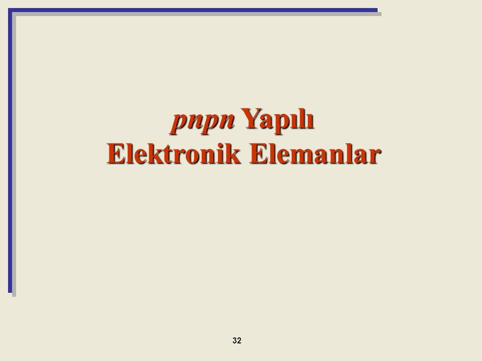 pnpn Yapılı Elektronik Elemanlar