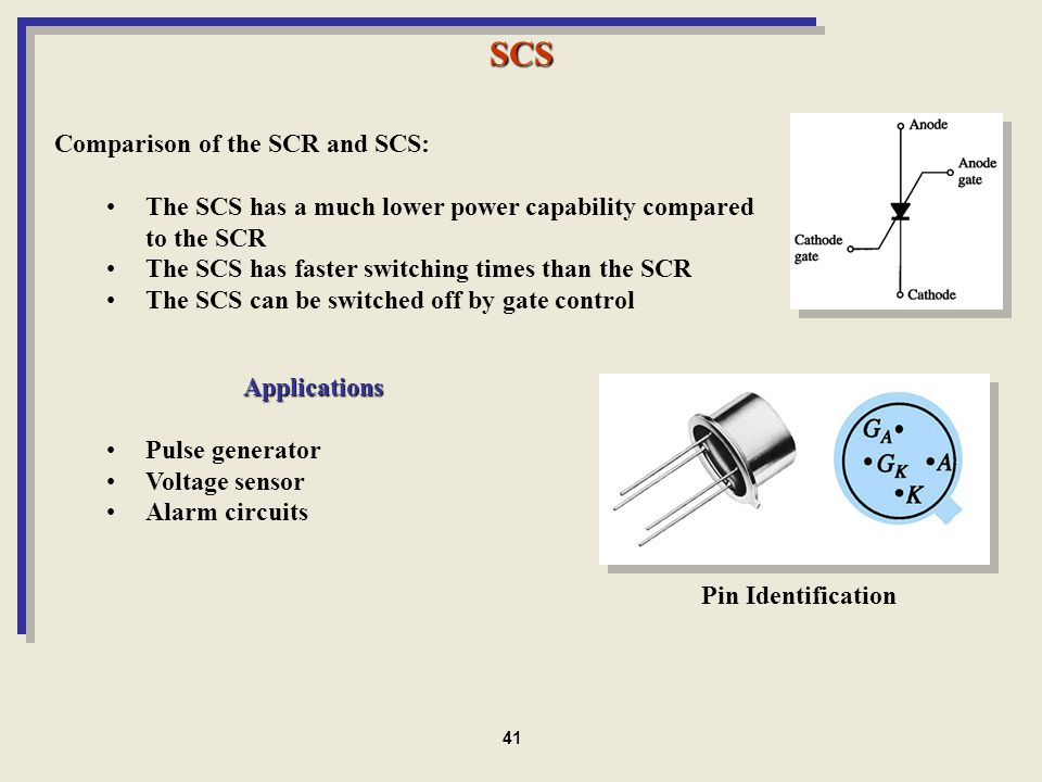 SCS Comparison of the SCR and SCS: