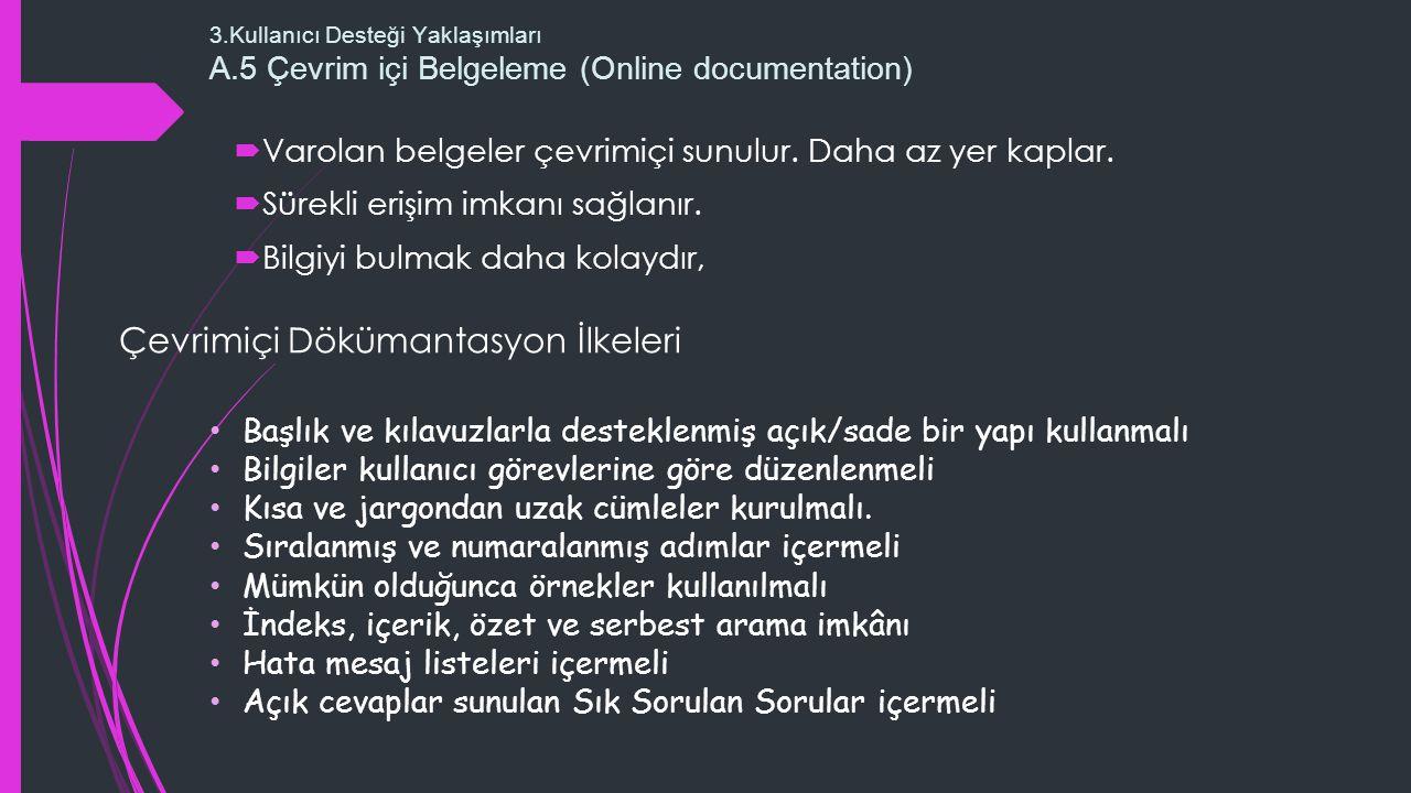 Çevrimiçi Dökümantasyon İlkeleri