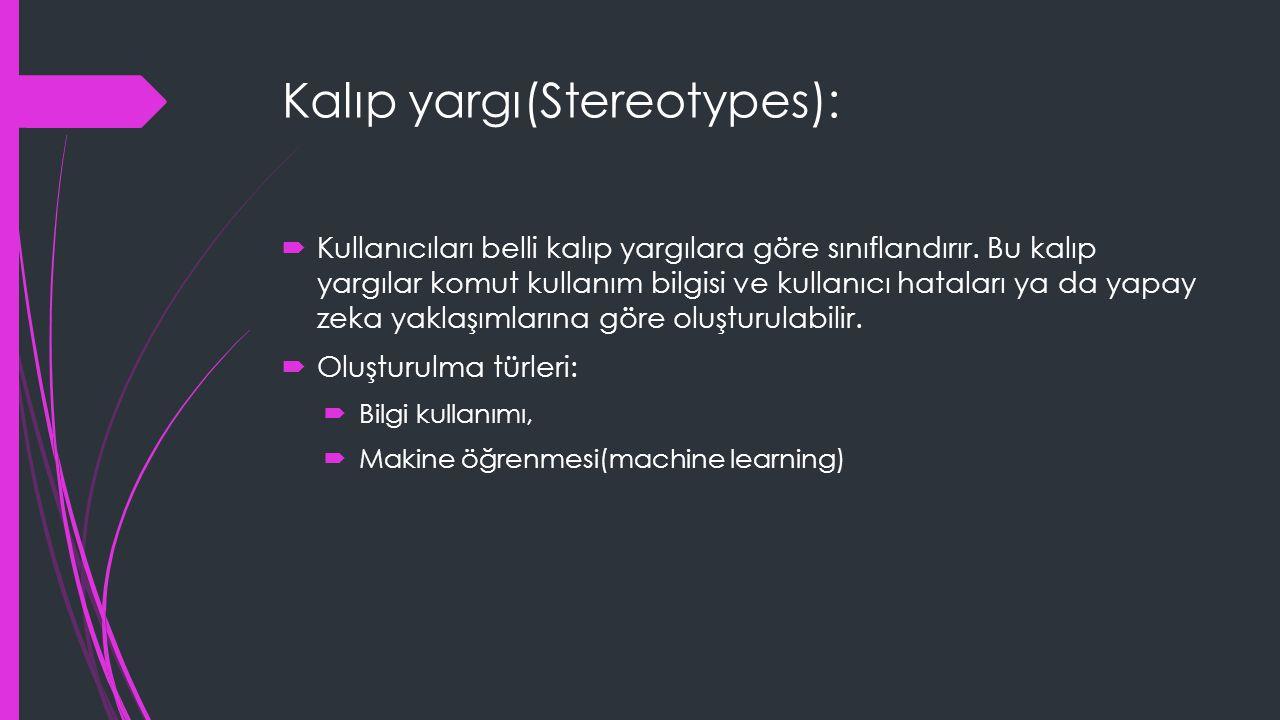 Kalıp yargı(Stereotypes):