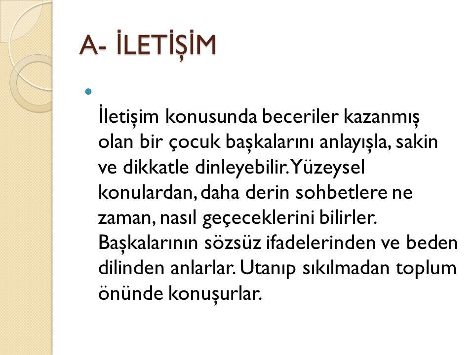 A- İLETİŞİM