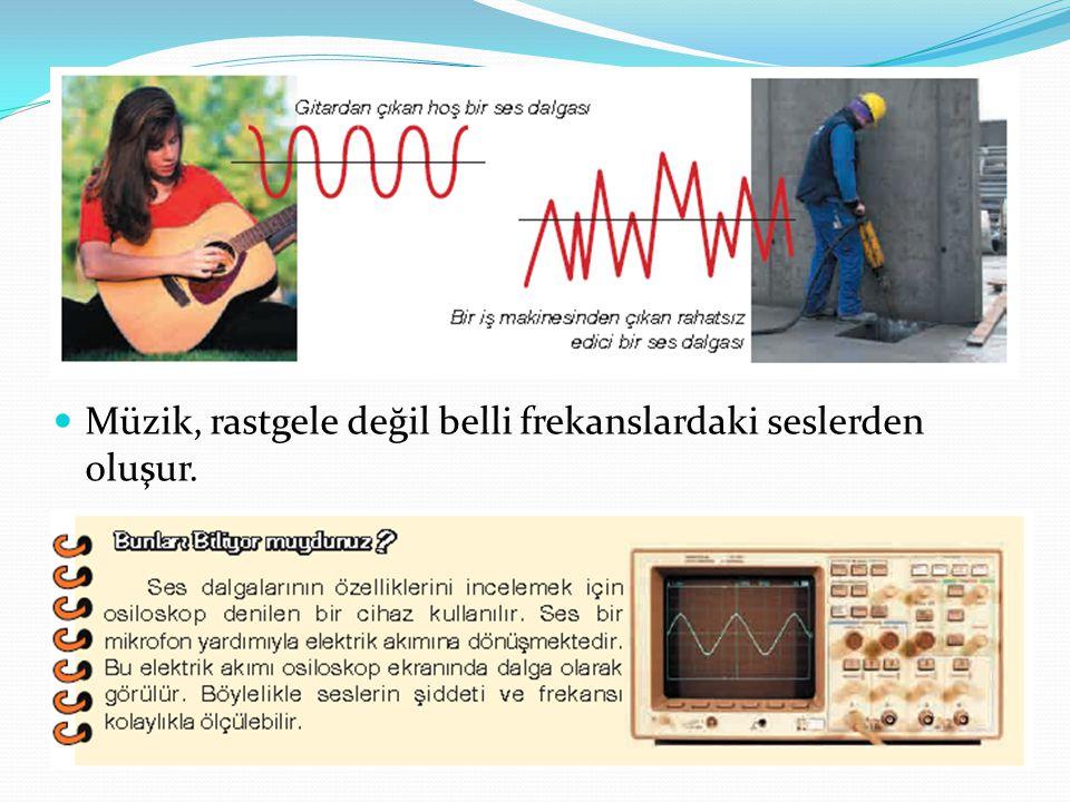 Müzik, rastgele değil belli frekanslardaki seslerden oluşur.