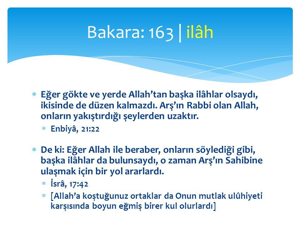 Bakara: 163 | ilâh