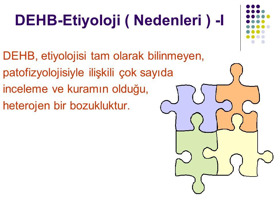 DEHB-Etiyoloji ( Nedenleri ) -I
