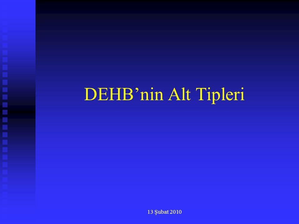 DEHB'nin Alt Tipleri 13 Şubat 2010