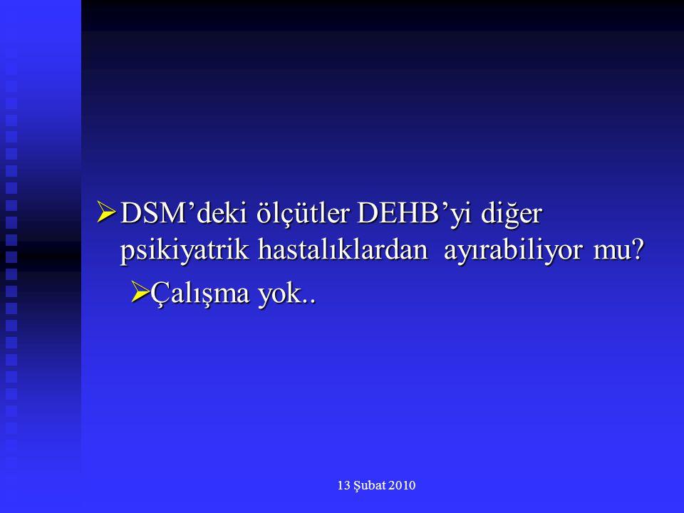 DSM'deki ölçütler DEHB'yi diğer psikiyatrik hastalıklardan ayırabiliyor mu