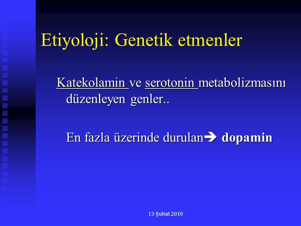Etiyoloji: Genetik etmenler