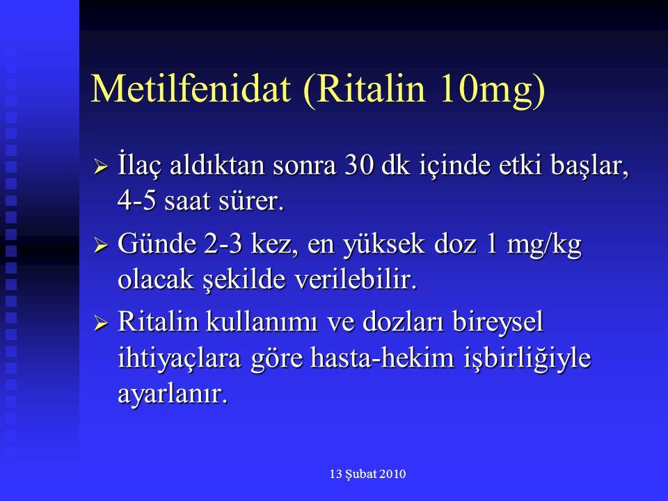 Metilfenidat (Ritalin 10mg)