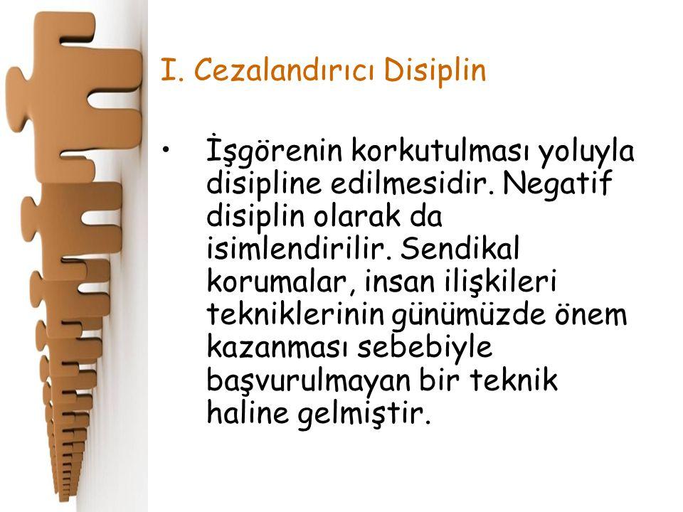 I. Cezalandırıcı Disiplin